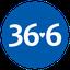 «36,6»